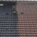 GuardWash roof cleaning before and after
